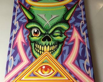 Skull graffiti painting