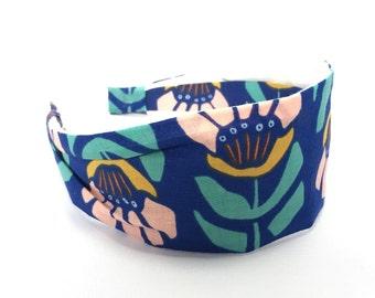 Floret Irish, wide fabric headband, women's headband, gift for her, aliceband