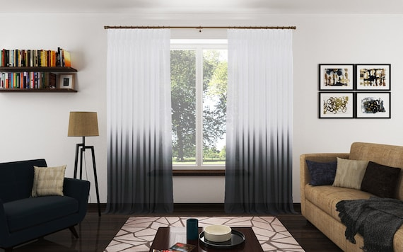 panels contemporary panel ombre curtain essence charcoal grommet linen curtains sheer