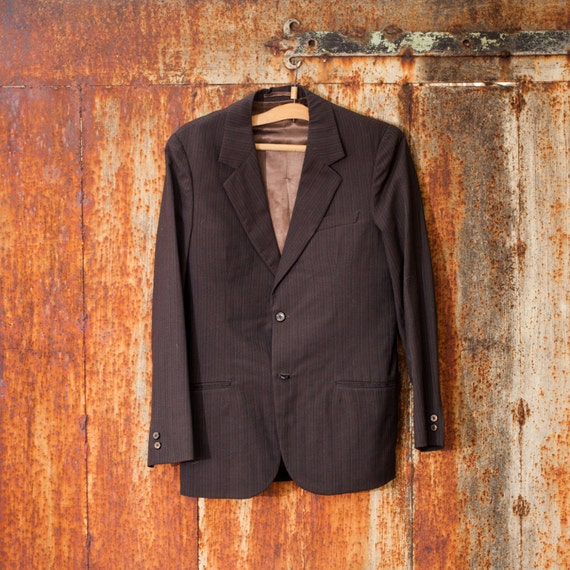 vintage herren anzug dunklen und hellen braun baumwolle anzug. Black Bedroom Furniture Sets. Home Design Ideas