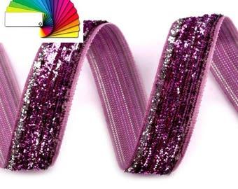 Velvet Ribbon width 13 mm with Lurex