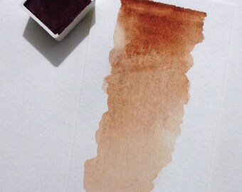 Burnt Sienna - Handmade Watercolor Paint - Art Supply - Artist Gift - Art Paint - Handcrafted Professional Watercolour