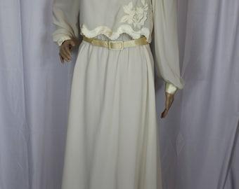 New York cream dress
