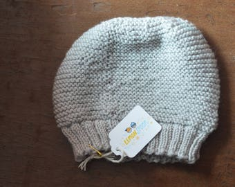 Cool Gray Beanie size 0-3 months