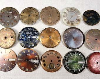 Vintage Watch Faces - set of 15 - c157