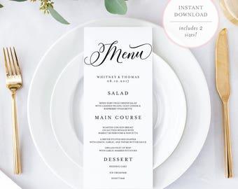 Editable Menu. Editable Menu Cards. Editable Menu Template. Printable Menu. Printable Menu Template. Wedding Menu Template. PDF Menu. (BR)