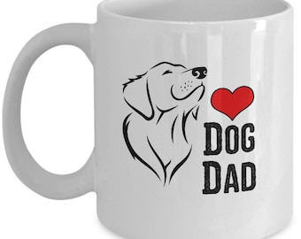 Dog Dad Father's Day Gift Animal Lover Rescue Love Coffee Cup Mug