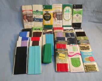 31 Vintage to New Sewing Hem Facing Seam Binding Bias Tape Flexi-Lace Seam Binding