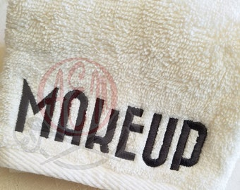 Embroidered MakeUp washcloths or Monogrammed Wash cloths Hostess Gift House warming gift