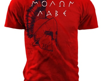 Black Ink Mens Molon Labe T-Shirt (MT691)