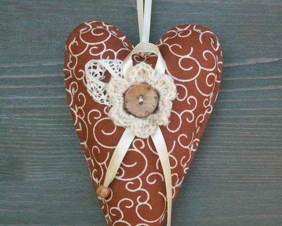 Deco-Herzgewebe Herzen Tilda Geschenk für Frau romantische