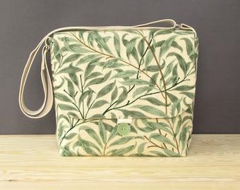 Willow Bough Recycled Vegan Messenger Bag | Vintage Bag | Vegan Bag | Vegan Crossbody Bag | William Morris Messenger Bag