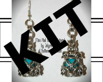 Make your own Chainmaille Mini Mace/Flail Earrings kit