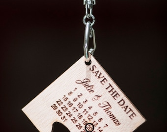 Save the date calendar way puzzle - save the date wooden