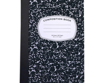 Customizable Old School Composition Book Inspired Folio Case For The iPad Mini 1,2,3 and 4