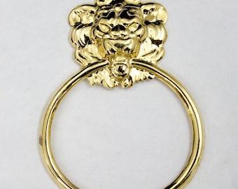 65mm Gold Lion Doorknocker #2348