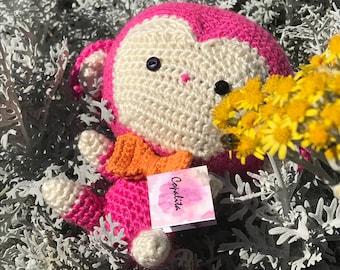 "Amigurumi Crochet Monkey ""Okichtik"", Amigurumi Chango, crochet little Monkey"