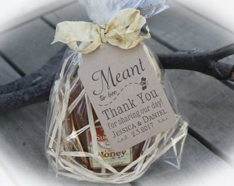 Honey Wedding Favor Kits // DIY Meant to Bee Honey Favor Tags-3 tag colors-Kits only-Honey/Filling NOT included -Bag LGE