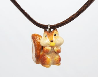 Squirrel handmade necklace