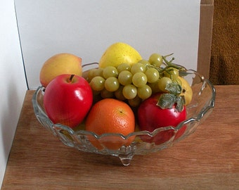 Free Shipping Antique Fruit Bowl with Faux Fruit