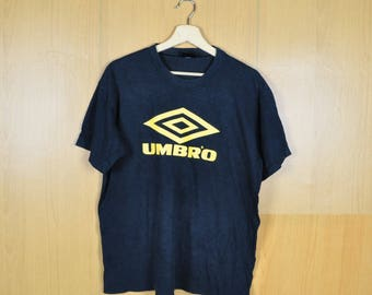 Vintage T Shirt Umbro Sweatshirt Black Color Yellow Design Nice Shirt