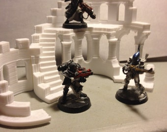"3D printed wargames/warhammer style terrain ""The Ruined Tower."""