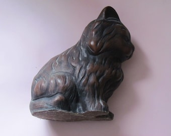 vintage cat ornament - home decor figure
