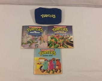Vintage Teenage Mutant Ninja Turtles Book Set and Armband