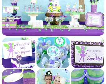 Fairy Garden Party | Fairy Birthday Decorations | Fairy Garden Birthday | Woodland Fairy Party Printable | 1st Birthday | Amanda's Parties