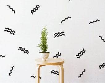Party Zig Zag   Removable Wall Decal & Sticker for Home, Office, Nursery