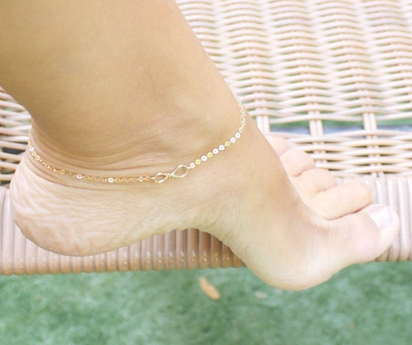 bracelet gold white jewelry link com inches chain anklet dp amazon figaro mm ankle yellow pgl