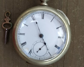 1885 Elgin Pocket Watch with Key