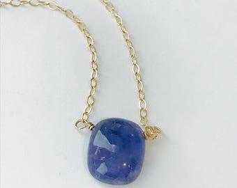 Tanzanite Necklace Tanzanite December Birthstone Necklace Gemstone Necklace Dainty Nacklace Layering Necklace Healing Necklace Boho Necklace