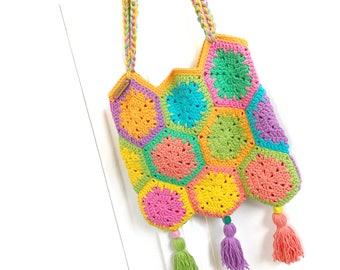The Jelly Hexie Bag Crochet Pattern