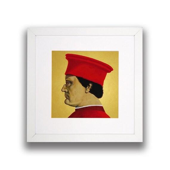 Duke of Urbino-Piero della Francesca-picture frame-Acrylic