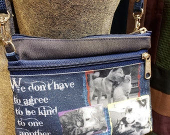 Dogs and Cats Cuddling Small Wallet --  Free Shipping
