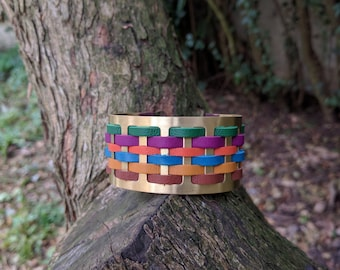 Cuff Bracelet woven leather Louise Pienne