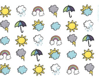 Weather Icons || Planner Stickers