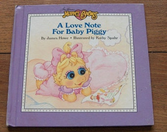 vintage 80s Muppet Babies A Love Note For Baby Piggy  children muppets weekly reader guc