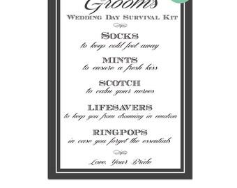 Groom\'s Wedding Day Survival Kit Groom Gift from Bride