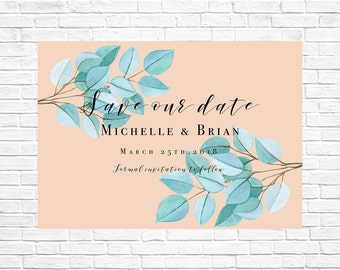 save the date card | botanical save the date | save the date | Printable save the date |rustic save the date | rustic invitation | download