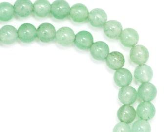 Green Aventurine (Light) Beads - 4mm Round - LAST HALF STRAND