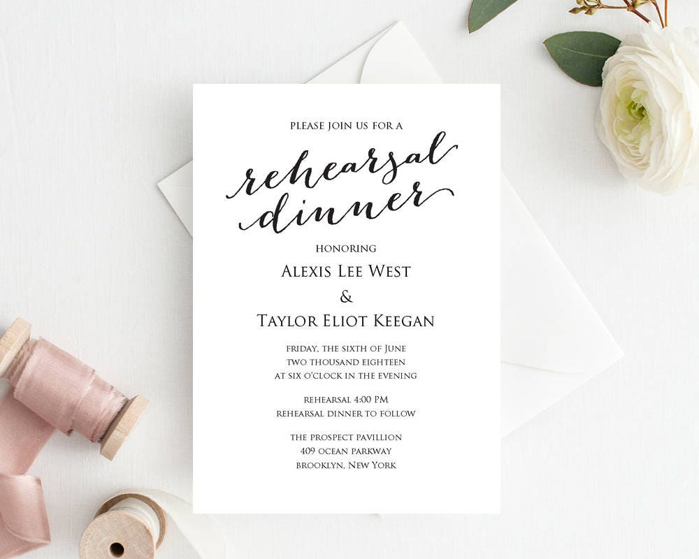It's just a graphic of Lucrative Free Printable Rehearsal Dinner Invitations