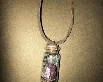 Orchid Necklace/Bottle Necklace