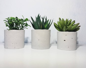 Set of 3 Candle Holders/Concrete pot planter/Concrete Air Plant Holder/Concrete Planters/Succulent Planters/ Home decor/ Gray/Gift for House