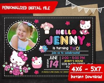 Hello Kitty Birthday,Hello kitty Birthday Invitation,Hello Kitty Invitation,Hello Kitty Party,Hello Kitty Invitation Party,Hello Kitty-F0046