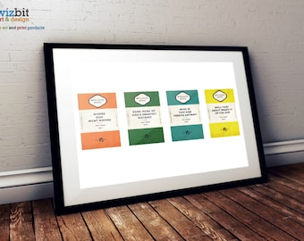 Hitchhiker's Guide to the Galaxy - Oolon Colluphid Poster / Art / Print (Single Version)