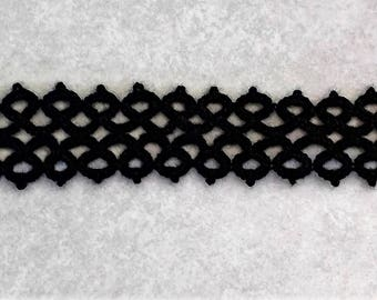Victorian Gothic Tatted Choker Necklace