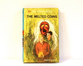 Vintage 1970 The Hardy Boys The Melted Coins Hardcover Book #23