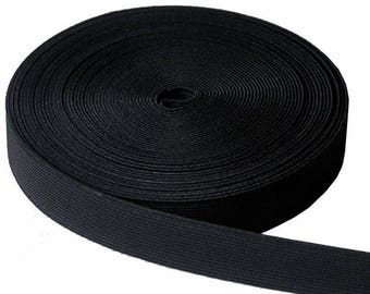 4 cm wide black elastic sold by the yard
